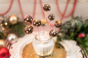 Vánoční dortíky na špejli